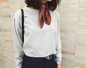 Vintage Raw Silk Crop Top