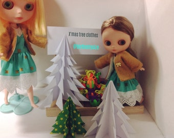 Blythe Clothes  X'Mas tree collection