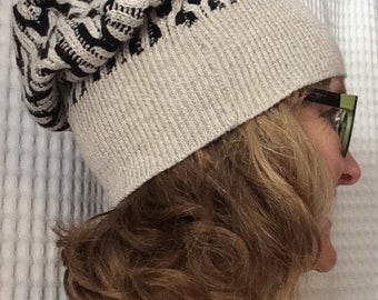 Gray and Black Slouch Cap*