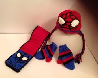 All spiderman of winter made crochet (on order)