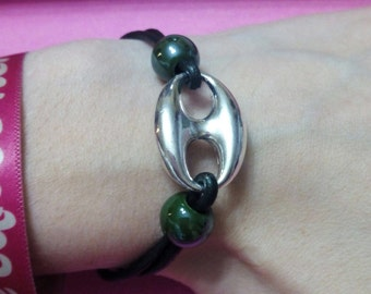 Women leather with metal BRACELET