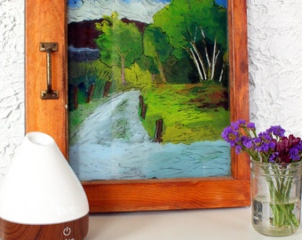 Country Road - Window Painting