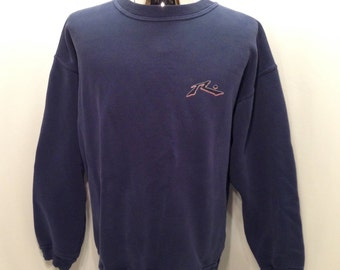 90s RUSTY Surfwear Sweatshirt / Epic Vintage Rusty SURFBOARDS Brand Sweatshirt Men's Size LARGE