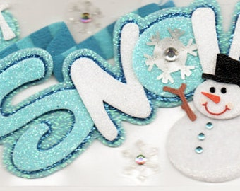 Snow Winter  Title  Jolee's Boutique Scrapbook Stickers Embellishments Cardmaking Crafts