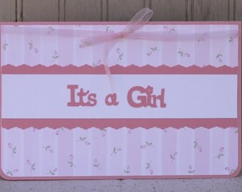 Baby Girl Congratulations Card; Greeting Card; Baby Blessing; Baby Girl Congrats; Girl Baby; Shower Card; Baby Girl Shower Card; Baby Birth