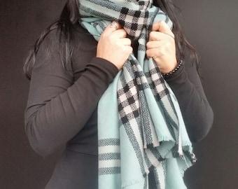 Outlander Tartan scarf, soft green