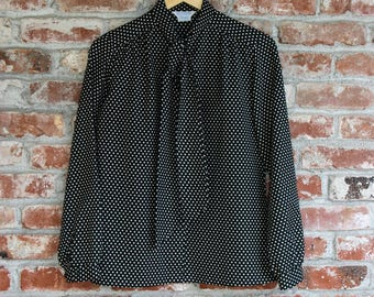NEW Vintage Polka Dot Secretary Blouse