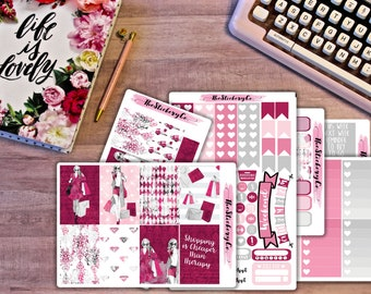 Happy Planner Weekly Kit - Retail Therapy, Classic Happy Planner Weekly Kit, Shopping Stickers