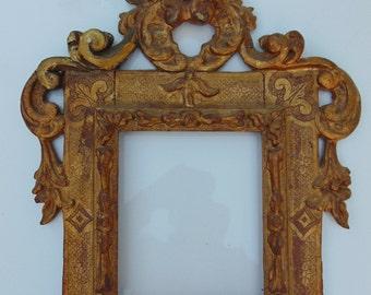 Italian Baroque Gilded Painting Frame