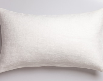 White luxury linen pillow / White stonewashed linen pillow / decorative linen pillow / linen cushions / stonewashed linen cushion