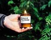 Hickory & Pine Rauch duftende Sojabohnenölkerze