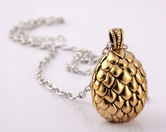 Dragon Egg Necklace or Keychain Game of Thrones Inspired