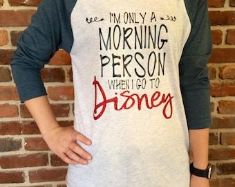 Disney Morning Person Raglan Shirt