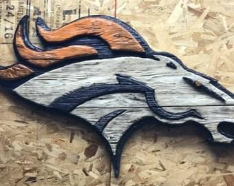 Denver Broncos Wall Decor denver broncos decor | etsy