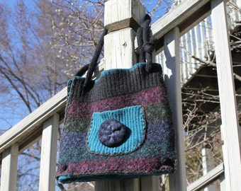 Recycled Sweater Purse, Upcycled Purse, Eco-Friendly Accessories