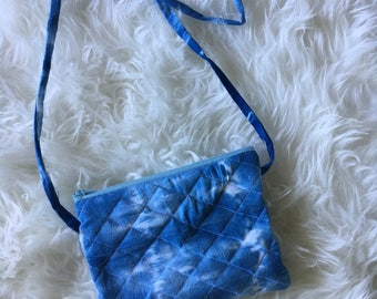 Indigo Dyed Quilted Cross-body Purse