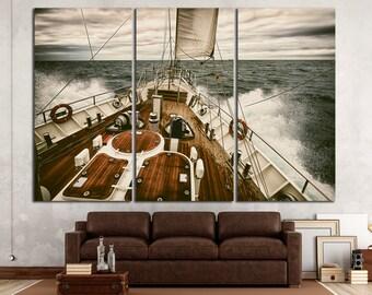 Yacht Wall Art Yacht Canvas Print Yacht Panel Art Sailboat Wall Art Sailboat Wall Decor Sailboat Canvas Art Yach Large Wall Art Sailboat Art