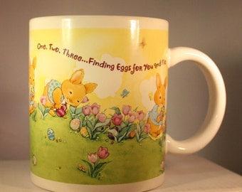 Hallmark Easter mug by Houston Harvest; Hallmark Easter Egg Hunt Mug; Finding Eggs for You and Me; Houston Harvest #134201