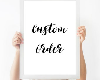 Custom Quote Print || Printable Wall Art, Printable Quote, Downloadable Print