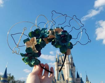 Merida Wire Floral Mickey Ears