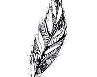 Illustrated Leaf Blank Greeting Card