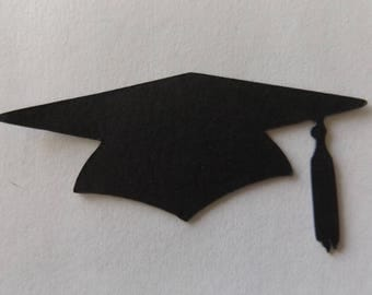 Pack of 10 Graduation Hat Die Cuts Graduation Cap Cut Outs Cardstock 25 Colours to Choose from (Listing 48)
