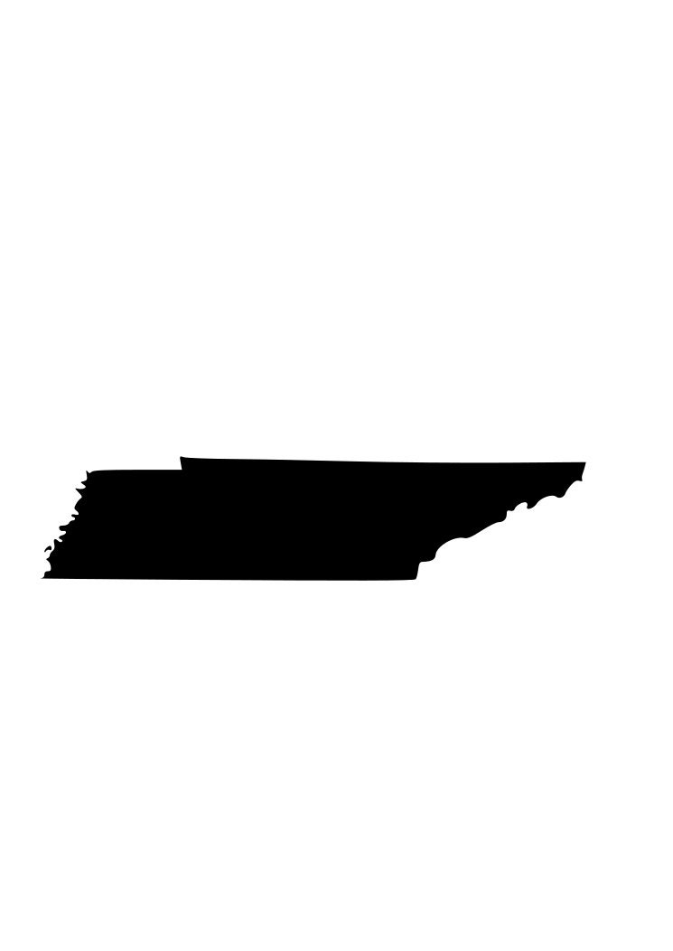 state of tennessee tn outline svg digital download cuttable files cricut silhouette from