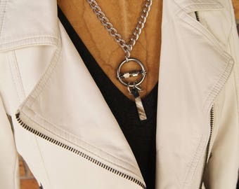 Kinetic Ring Necklace