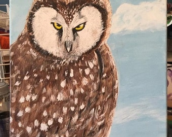 Owl - Acrylic Canvas Painting