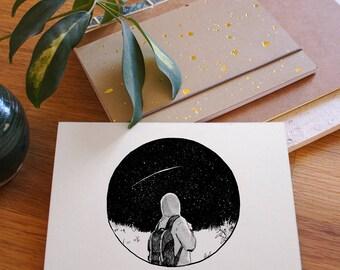 Gedankenrauschen 07: The Sky at Night . DIN A6 Print