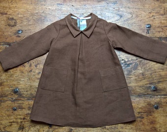 Brown Tunic, pure linen