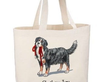 Bernese Mountain Dog Beach Tote by Chatham Ivy - Berner- Preppy Dog Tote