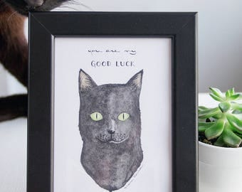 Print of my black cat illustration.