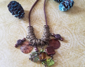 Grounded roots necklace and earring set