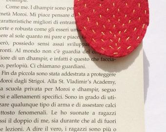 Corner bookmark bookmark, bookmark, strawberry, strawberry, strawberry corner bookmark