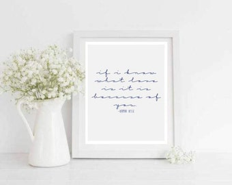 If I Know What Love Is Printable Love Quote