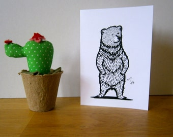 Mr. Bear Greeting Card, blank, ideal for every ocassion.