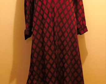 Timeless Ted Lapidus designer vintage flowing dress from 1980s