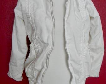 Vintage White Youth Jacket