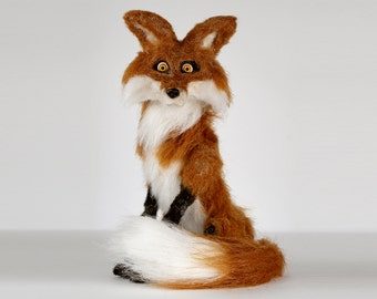 Stop Motion Fox Animation Puppet / Posable Figurine