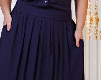 Dark Blue Evening Dress For Celebration  Sammer Blue Prom Long Evening  Gown