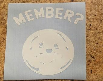 Member Berries vinyl decal