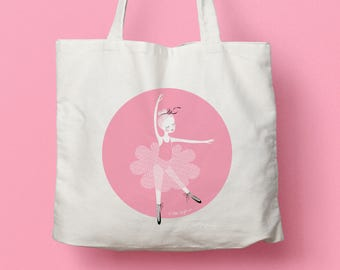 "Canvas bag / Tote bag ""Little ballerina"""