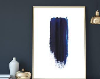Indigo Prints, Abstract art, Navy Blue, Artwork, Abstract Print, Watercolor, Wall Art, Minimalist, Painting, Brush Stroke, Digital Download