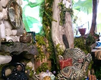 Fairy Castle With Stained Glass Windows, Fairy House, Fairy Furniture, Fairy Miniatures, Fairy Doll House, Fairy Door, Fairy Window, Pixie