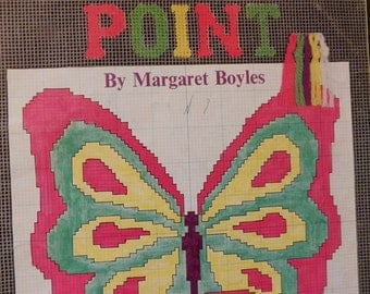 Booklet- Beginner's Needlepoint By margaret Boyles- 32 Pages, Instruction only print 1980's