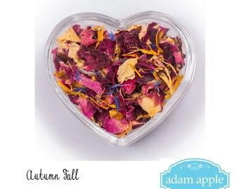 Autumn Fall Natural Dried Real Petal Biodegradable Wedding Confetti 1 litre