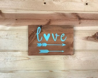 Love Arrows Wood Sign Home Decor Housewarming Gift Arrow Accents