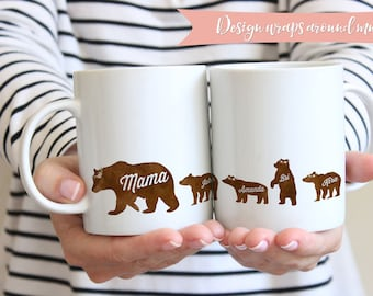 Mama Bear Mug | Personalized Mom Mug | Mug For Mama Bear | Mamma Bear | Mom Birthday Gift Mug | Gift For Wife Mug | Gift For New Mom Mug