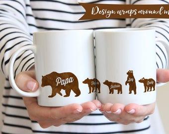 Papa Bear Mug | Mug For Papa Bear | Fathers Day Gift Mug | Papa Bear Gift | Dad Birthday Gift Mug | Grandpa Mug | Cute Dad Mug